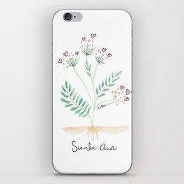 Siembra Amor iPhone Skin