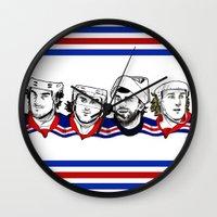 power rangers Wall Clocks featuring Rangers by Kana Aiysoublood