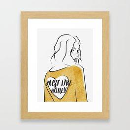 Just Like Honey Framed Art Print