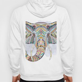 Colorful Ethnic Elephant Hoody