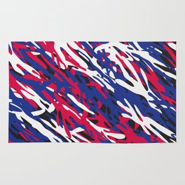 Patriotic Camouflage Rug