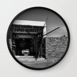 Sidewalk Spaza Shop Wall Clock