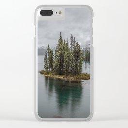 Landscape Maligne Lake Photography | Alberta | Canada Clear iPhone Case