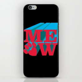 MEOW paw iPhone Skin