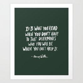 Oscar Wilde Quote Art Print