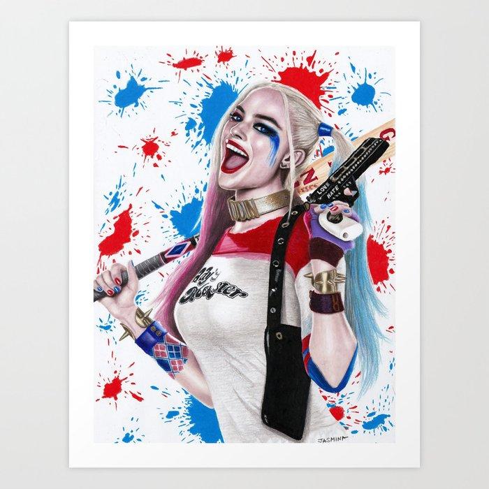 Harley Quinn Fanart Art Print