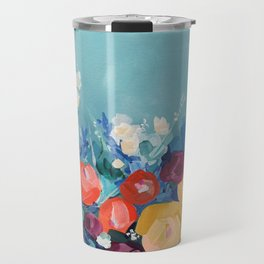 Signs of Spring abstract acrylic floral painting Travel Mug