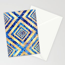 Abstract Crystals Pattern Stationery Cards