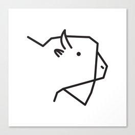Minimalist American Buffalo Canvas Print