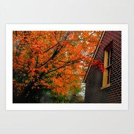 Autumn at the Window Art Print