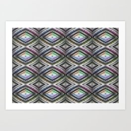 Bright symmetrical rhombus pattern Art Print