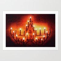 Chania lights Art Print
