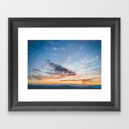 Sky Over Foss Framed Art Print