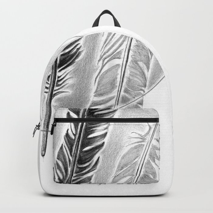 Three feathers in the circle Backpack