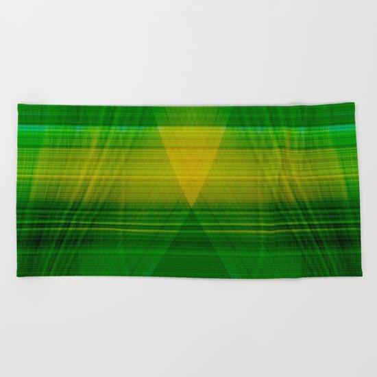 green hope Beach Towel