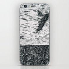 Birch, black & white iPhone Skin