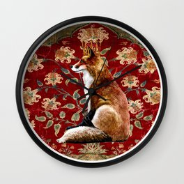 The Fox King - Lily Tapestry Wall Clock
