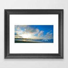 Fistral Beach, Newquay, England Framed Art Print