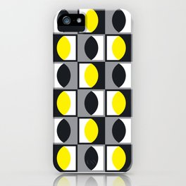 Geometric Pattern 216 (yellow gray curves) iPhone Case