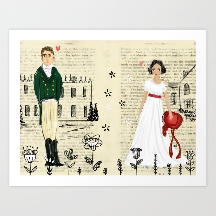 Mr.Darcy of Pemberley and Miss Bennet of Longbourn Art Print