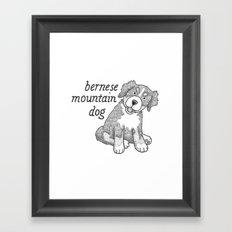 Dog Breeds: Bernese Mountain Dog Framed Art Print