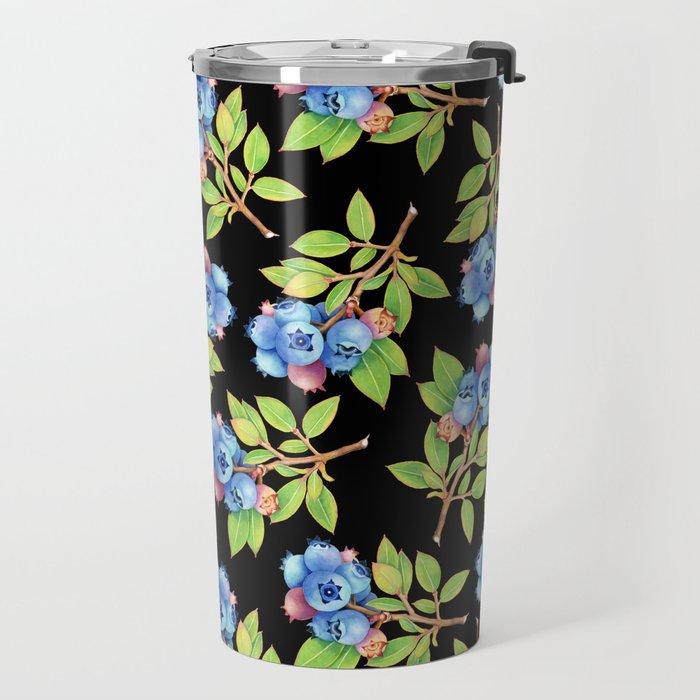 Wild Blueberry Sprigs Travel Mug