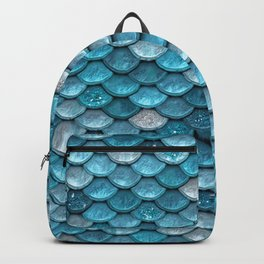 Luxury Turquoise Mermaid Sparkling Glitter Scales - Mermaidscales Backpack