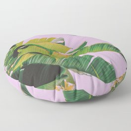 Banana Leaves I (Lavender) Floor Pillow