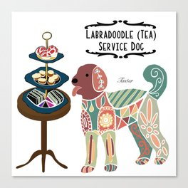 Labradoodle Tea Service Dog: Taster Canvas Print