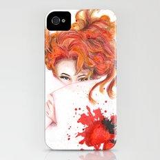 Peepin' Strawberries iPhone (4, 4s) Slim Case