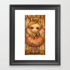 The Bunny And The Ballerina Framed Art Print