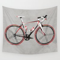 bicycles Wall Tapestries featuring Race Bike by Wyatt Design