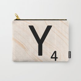 Scrabble Letter Y - Scrabble Art and Apparel Carry-All Pouch