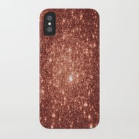 rose gold iPhone & iPod Cases featuring rose gold stars by Space & Galaxy Dreams
