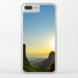 Meteora Sunset Clear iPhone Case