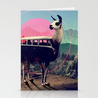 tapestry Stationery Cards featuring Llama by Ali GULEC