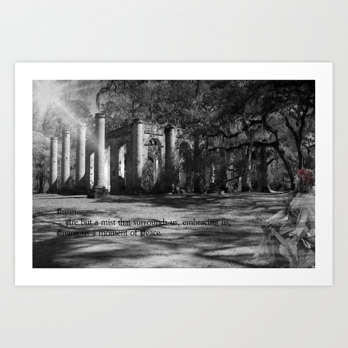 Misty is Dreaming Art Print
