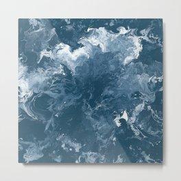 Oceanic Flow Metal Print