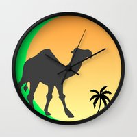 camel Wall Clocks featuring Camel by Geni