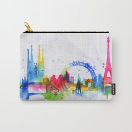 Silhouette overlay city Paris Carry-All Pouch