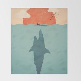 Shark Attack Throw Blanket