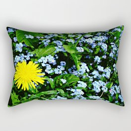 Yellow Rules Rectangular Pillow