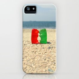 Gummy Bear Beach Kiss iPhone Case