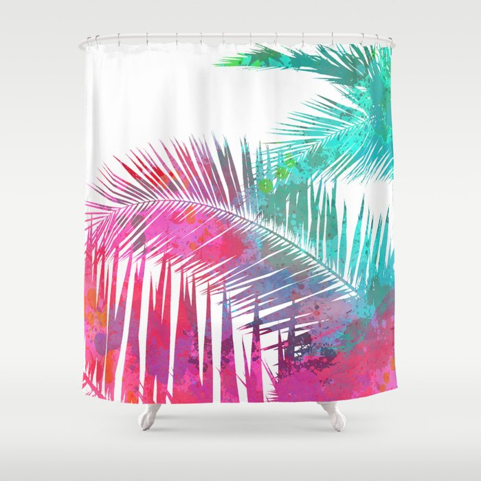 Palms Explosion Shower Curtain