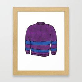 Season 1, Episode 23 (full sweater) Framed Art Print