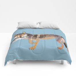Totem Coastal wolf (Vancouver Wolf) Comforters