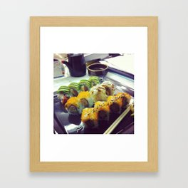 sushis desk Framed Art Print