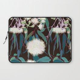 Australian Gumnut Eucalyptus Floral in White + Expresso Laptop Sleeve