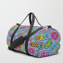 """Oh"", ""Bam"", ""Offline"", ""Oops"", ""Squad"", ""Yeah"" pattern 2 Duffle Bag"