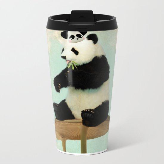 Wild Mushroom Panda Party Metal Travel Mug